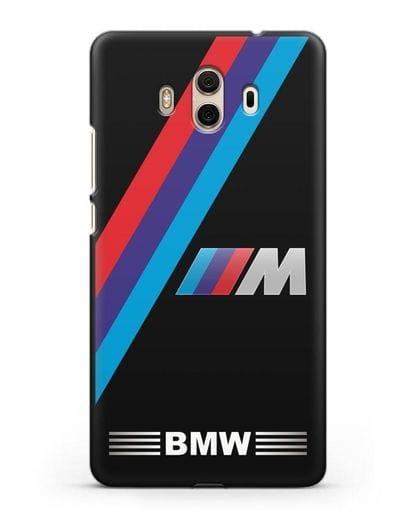 Чехол с логотипом BMW M Series силикон черный для Huawei Mate 10