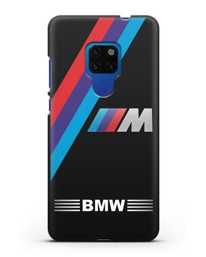 Чехол с логотипом BMW M Series силикон черный для Huawei Mate 20