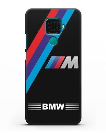 Чехол с логотипом BMW M Series силикон черный для Huawei Mate 30 Lite