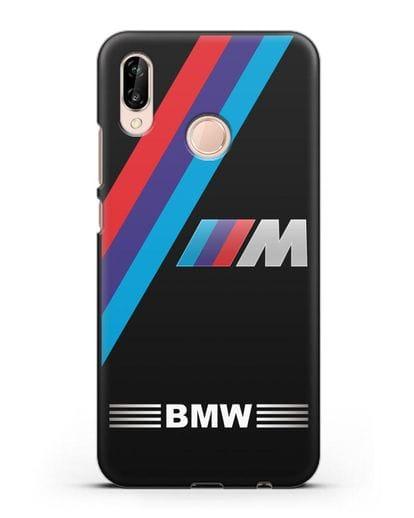 Чехол с логотипом BMW M Series силикон черный для Huawei P20 Lite
