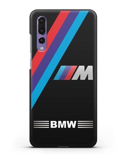 Чехол с логотипом BMW M Series силикон черный для Huawei P20 Pro
