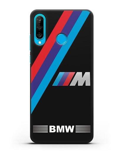 Чехол с логотипом BMW M Series силикон черный для Huawei P30 Lite
