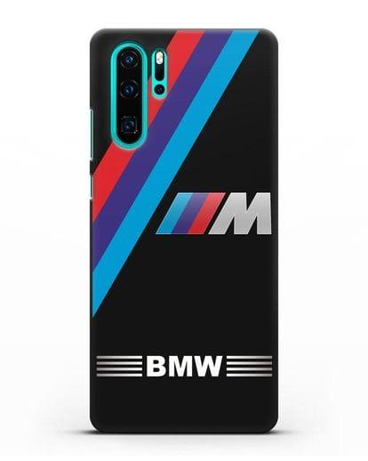 Чехол с логотипом BMW M Series силикон черный для Huawei P30 Pro