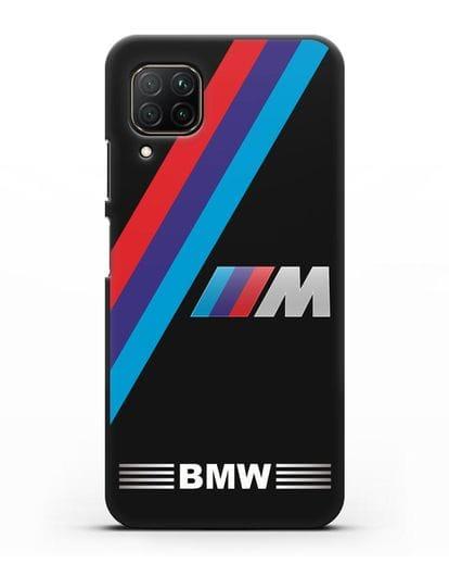 Чехол с логотипом BMW M Series силикон черный для Huawei P40 lite