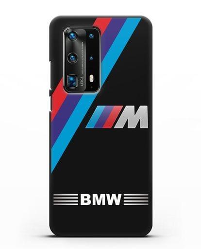 Чехол с логотипом BMW M Series силикон черный для Huawei P40 Pro