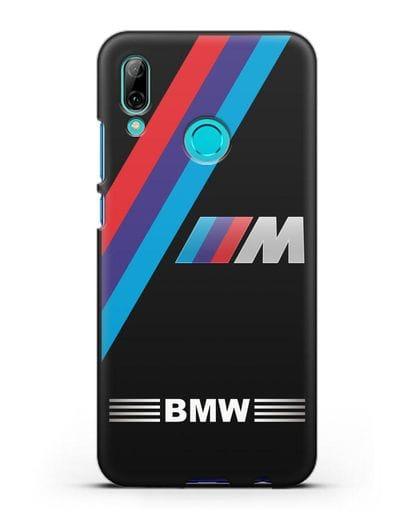 Чехол с логотипом BMW M Series силикон черный для Huawei P Smart 2019
