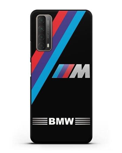 Чехол с логотипом BMW M Series силикон черный для Huawei P Smart 2021