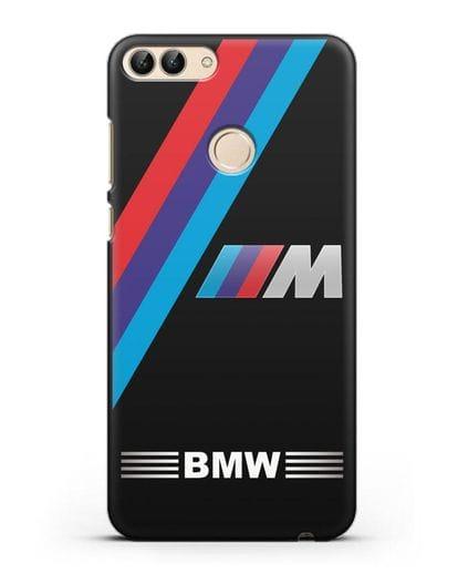 Чехол с логотипом BMW M Series силикон черный для Huawei P Smart