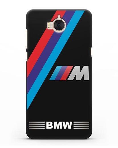 Чехол с логотипом BMW M Series силикон черный для Huawei Y5 2017