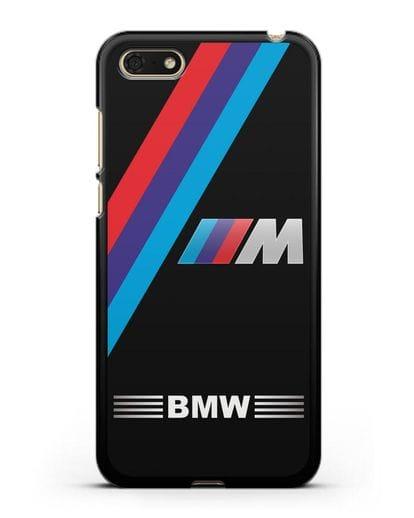 Чехол с логотипом BMW M Series силикон черный для Huawei Y5 Prime 2018