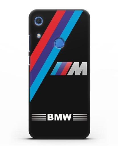 Чехол с логотипом BMW M Series силикон черный для Huawei Y6s
