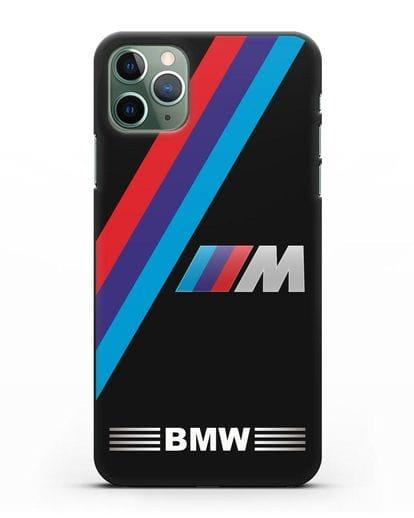 Чехол с логотипом BMW M Series силикон черный для iPhone 11 Pro