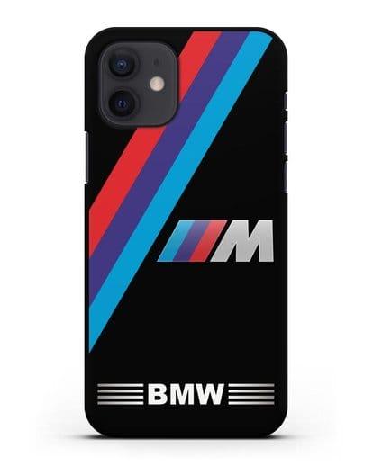 Чехол с логотипом BMW M Series силикон черный для iPhone 12