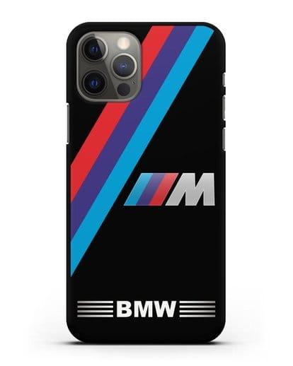 Чехол с логотипом BMW M Series силикон черный для iPhone 12 Pro