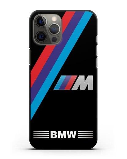 Чехол с логотипом BMW M Series силикон черный для iPhone 12 Pro Max
