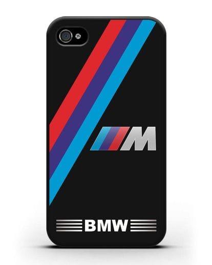 Чехол с логотипом BMW M Series силикон черный для iPhone 4/4s