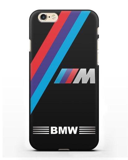 Чехол с логотипом BMW M Series силикон черный для iPhone 6