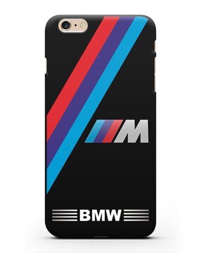 Чехол с логотипом BMW M Series силикон черный для iPhone 6s Plus
