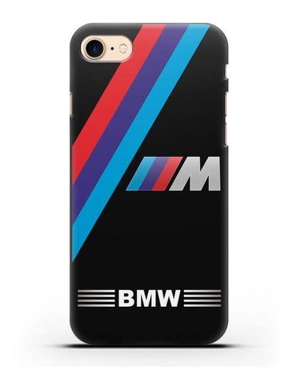 Чехол с логотипом BMW M Series силикон черный для iPhone 8