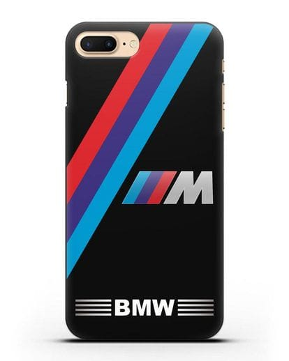 Чехол с логотипом BMW M Series силикон черный для iPhone 7 Plus