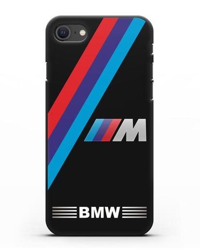 Чехол с логотипом BMW M Series силикон черный для iPhone SE 2020