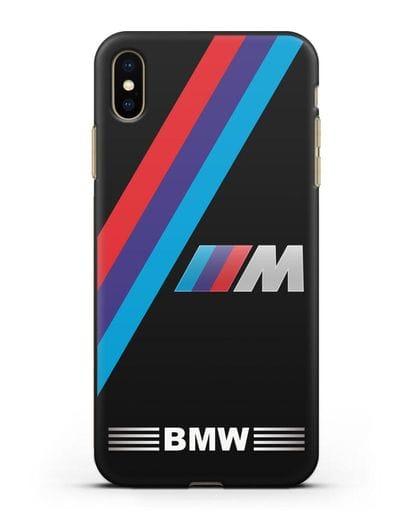 Чехол с логотипом BMW M Series силикон черный для iPhone XS Max
