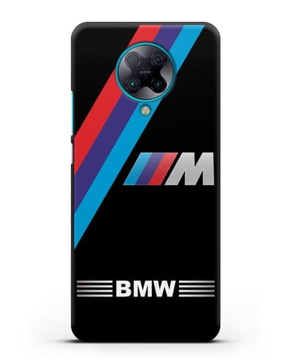Чехол с логотипом BMW M Series силикон черный для Xiaomi Poco F2 Pro