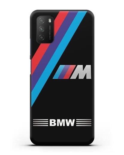Чехол с логотипом BMW M Series силикон черный для Xiaomi Poco M3