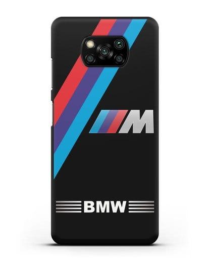 Чехол с логотипом BMW M Series силикон черный для Xiaomi Poco X3