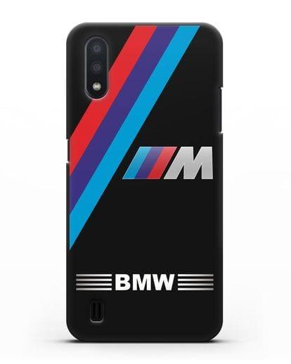 Чехол с логотипом BMW M Series силикон черный для Samsung Galaxy A01 [SM-A015F]