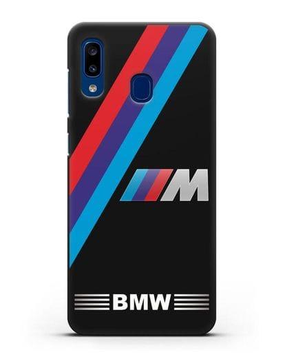 Чехол с логотипом BMW M Series силикон черный для Samsung Galaxy A20 [SM-A205FN]
