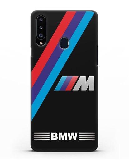 Чехол с логотипом BMW M Series силикон черный для Samsung Galaxy A20s [SM-A207FN]