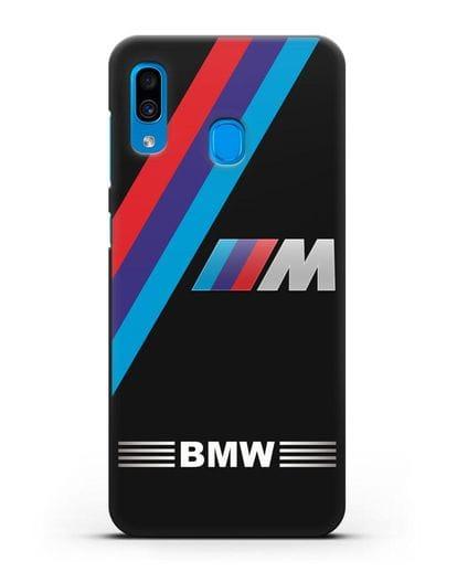 Чехол с логотипом BMW M Series силикон черный для Samsung Galaxy A30 [SM-A305FN]