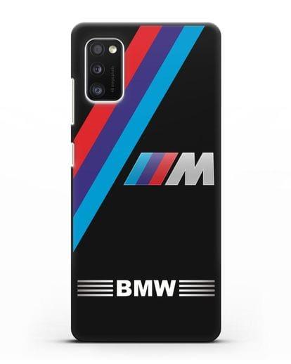 Чехол с логотипом BMW M Series силикон черный для Samsung Galaxy A41 [SM-A415F]