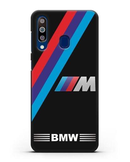 Чехол с логотипом BMW M Series силикон черный для Samsung Galaxy A60 [SM-A606F]