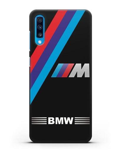 Чехол с логотипом BMW M Series силикон черный для Samsung Galaxy A70 [SM-A705F]