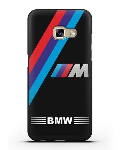 Чехол с логотипом BMW M Series силикон черный для Samsung Galaxy A7 2017 [SM-A720F]