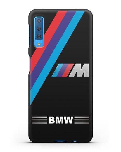 Чехол с логотипом BMW M Series силикон черный для Samsung Galaxy A7 2018 [SM-A750F]