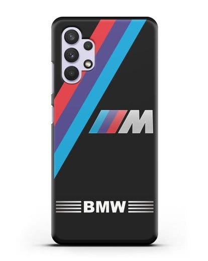 Чехол с логотипом BMW M Series силикон черный для Samsung Galaxy A32 4G [SM-A325F]