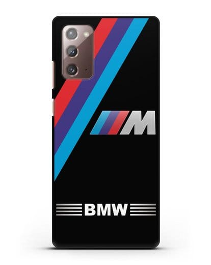Чехол с логотипом BMW M Series силикон черный для Samsung Galaxy Note 20 [SM-N980F]