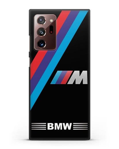 Чехол с логотипом BMW M Series силикон черный для Samsung Galaxy Note 20 Ultra [SM-N985F]