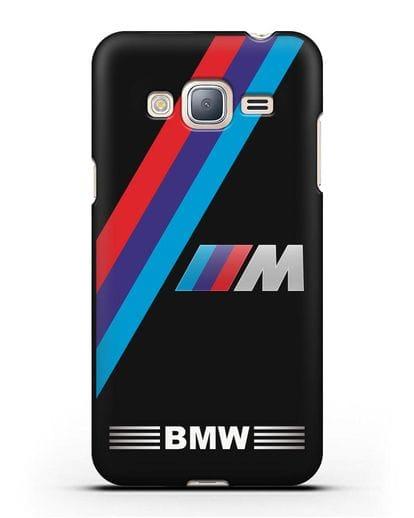 Чехол с логотипом BMW M Series силикон черный для Samsung Galaxy J3 2016 [SM-J320F]