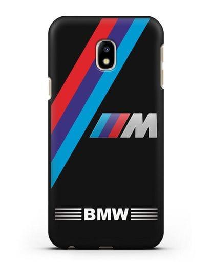 Чехол с логотипом BMW M Series силикон черный для Samsung Galaxy J3 2017 [SM-J330F]