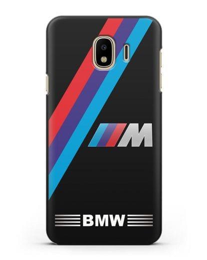 Чехол с логотипом BMW M Series силикон черный для Samsung Galaxy J4 2018 [SM-J400F]