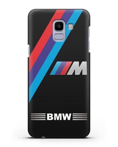 Чехол с логотипом BMW M Series силикон черный для Samsung Galaxy J6 2018 [SM-J600F]