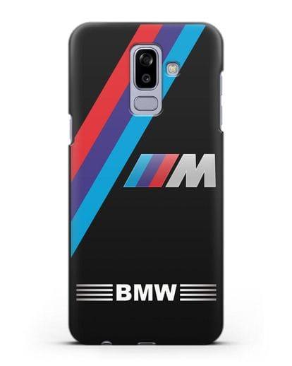 Чехол с логотипом BMW M Series силикон черный для Samsung Galaxy J8 2018 [SM-J810F]