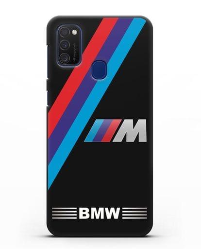 Чехол с логотипом BMW M Series силикон черный для Samsung Galaxy M21 [SM-M215F]