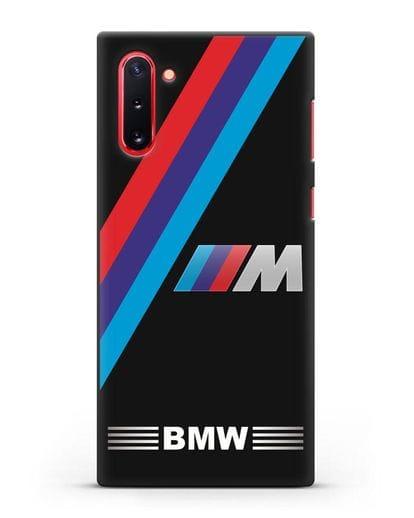 Чехол с логотипом BMW M Series силикон черный для Samsung Galaxy Note 10 [N970F]
