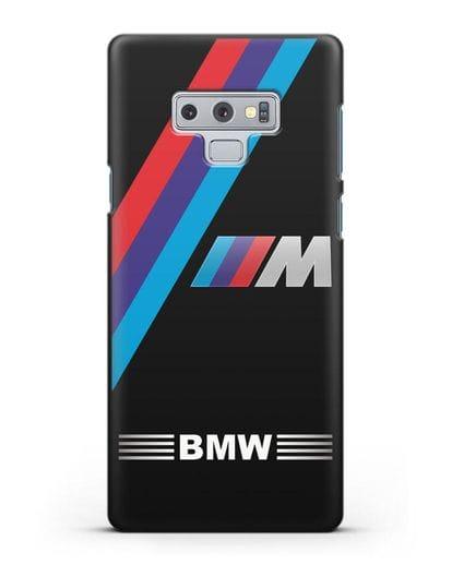 Чехол с логотипом BMW M Series силикон черный для Samsung Galaxy Note 9 [N960F]