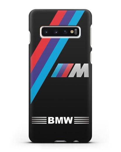 Чехол с логотипом BMW M Series силикон черный для Samsung Galaxy S10 [SM-G973F]